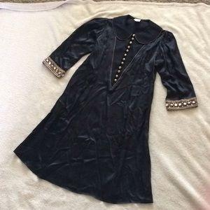 Lauren Moffatt Dresses - Lauren Moffatt Black 100% Silk Dress Size 2